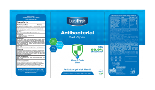 100 Pack Deep Fresh Antibacterial Wet Wipes