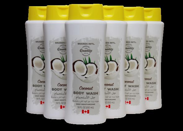 18 Oz Brands International Coconut Body Wash