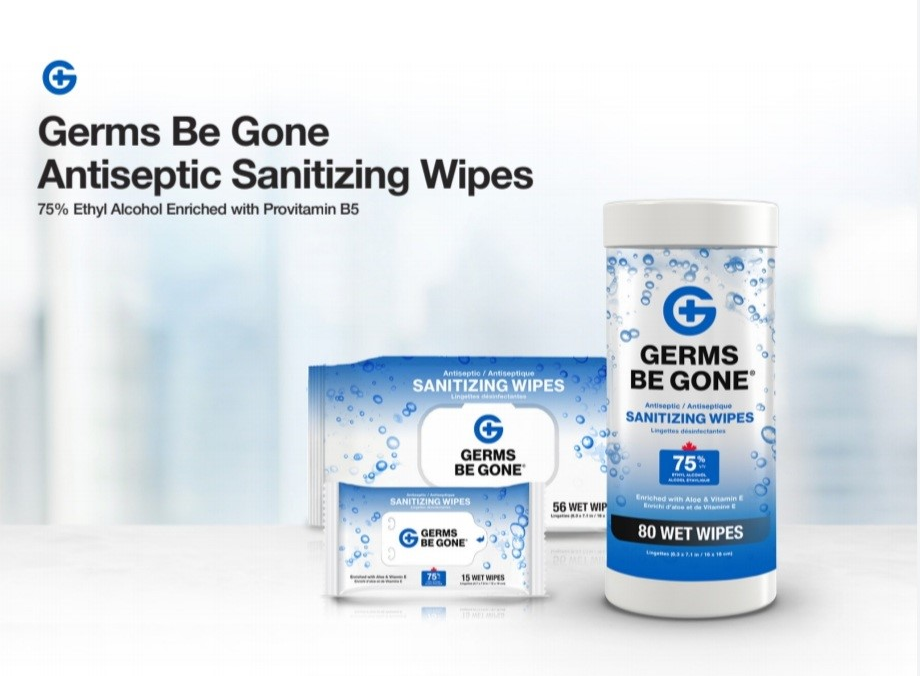 80 Count Germs Be Gone Antibacterial Sanitizing Wipes